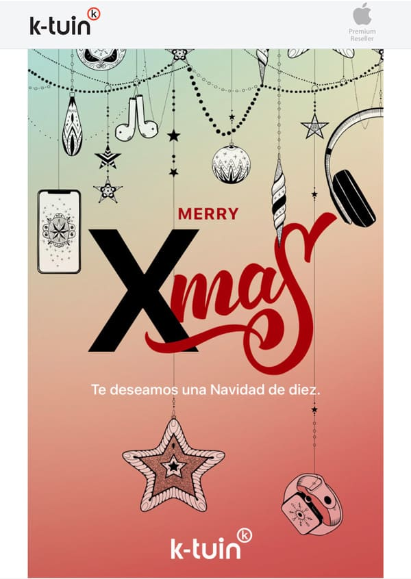 Felicitación Navidad Moderna - K-tuin, Apple Reseller